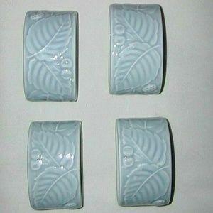 Porcelain Set 4 Napkin Rings